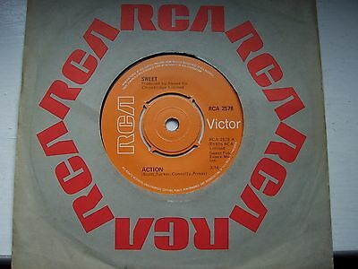 Sweet, Action / Sweet F.a.. Original 1975 Rca Victor Single
