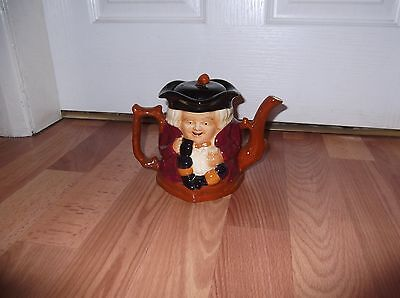 Vintage Shorter & Son Ltd Toby Character Hand Painted Teapot