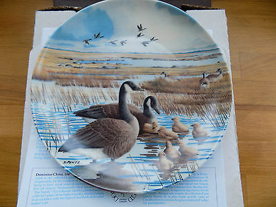 Mib 'wings Upon The Wind' Series Plate 4 Of 6 'the Family' By Donald Pentz 1986