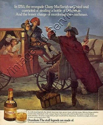 1989 Drambuie Ad Renegade Cluny MacTavish Stealing a Bottle. Nice Original Art
