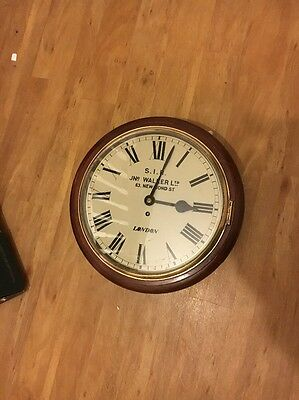 """12"""" 8 Day Fusee Dial Clock in Working  Order."""