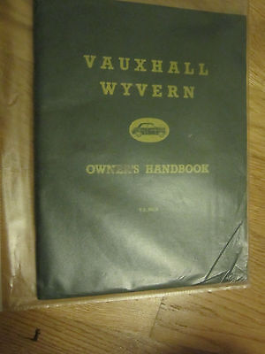 Vauxhall Wyvern Owners Handbook TS 291/8