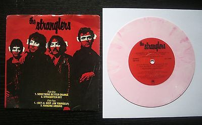 """The Stranglers 7"""" pink EP Something Better Change 1977 with picture sleeve"""