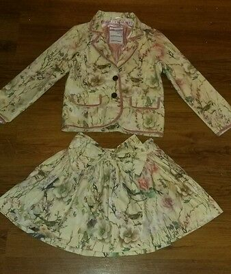 Cool Candy by Coleen Rooney, Girls Matching Floral Skirt & Jacket, 7-8 Years