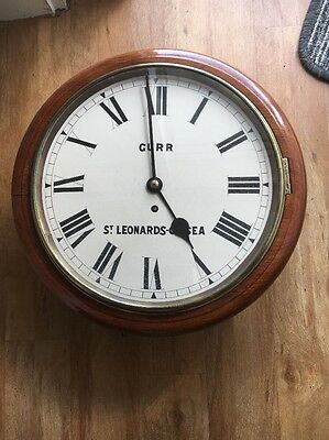 "1860's 12"" Fusee Dial Clock in Restored Order. GURR,ST"" LENARDS -ON-SEA"