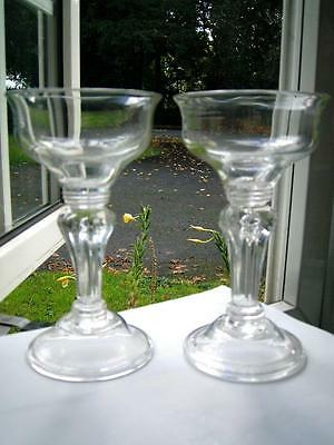 Superb pair antique Large Georgian champagne coupes sweatmeat glasses late 18thC