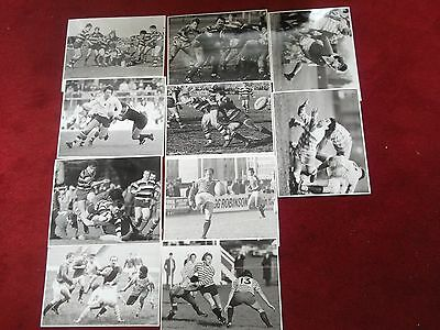 10 Player Match Action Shots 100% Org B/white Press Photographs 1980S