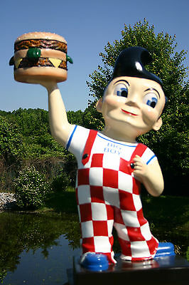 "BOBS BIG BOY Gas Petro Burger Shoneys Ad Sign statue 40"" Diner Restaurant"