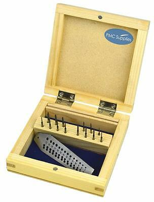 Mini Tap & Die Set 14 Taps Screwplate Micro Tool For Jewelry Making Threading