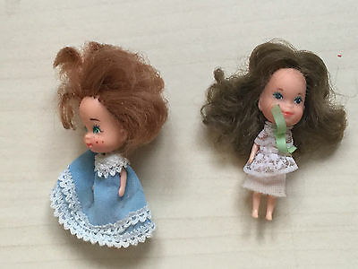 Vintage Dolls House Diecast Metal -Mattel The Littles - 2 female dolls