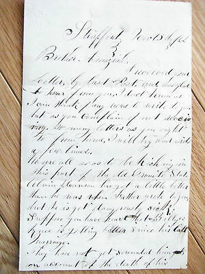 Civil War Thanksgiving New Hampshire  Letter To Soldier 1862