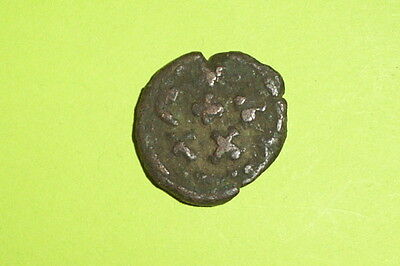 ANCIENT BYZANTINE COIN of CONSTANS 641-668 AD rare Carthage mint Christian cross