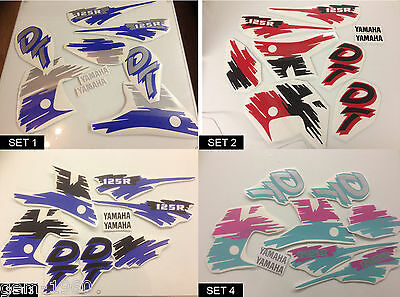 Yamaha DT DTR 125 200 1988-2004 Decals Graphics Sticker Kit All Colours non oem