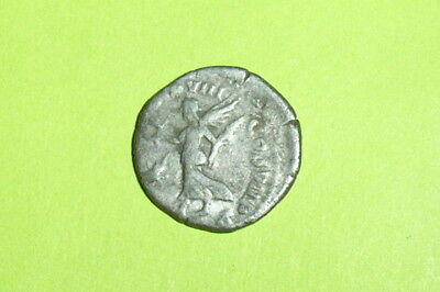 RARE Authentic Ancient ROMAN SILVER COIN angel COMMODUS wreath palm star antique
