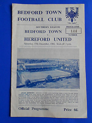 BEDFORD TOWN v HEREFORD UNITED  Southern League 1966-1967