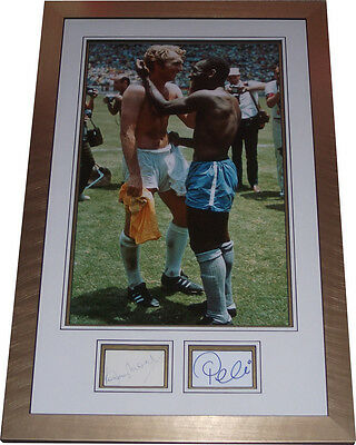 Mexico 1970 signed Pele Bobby Moore ICONIC Shirt Swap World Cup England v Brazil