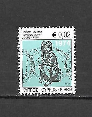 Cyprus 2012 Special Refugees Fund Stamp MNH