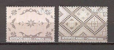 Cyprus 2011 Embroidery MNH