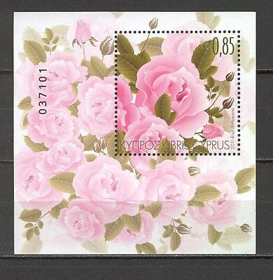 Cyprus 2011 FLowers - Roses MS MNH