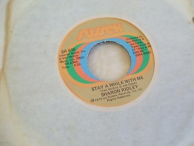 Sharon Ridley 'Stay Awhile With Me' US Sussex rare modern soul 45 exc