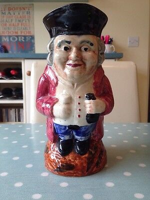 Vintage Shorter And Son Old Staffs Toby Jug. Full Body. 8 Inches Tall.
