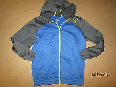 Boys PUMA athletic hooded hoodie jacket L Lg running gym