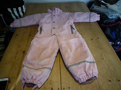 Cute & Cosy!! Fabulous H&M Pink All In One SNOW SUIT, Skiing, Salopettes, 2-3 Yr
