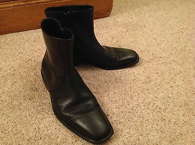 Russell & Bromley Men's Black 100% Leather Chelsea Style Ankle  Boots UK 6 EU 40