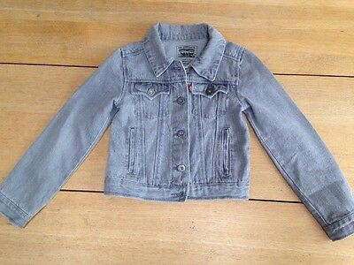 Girls Grey Levi's Denim Jacket Age 6-7
