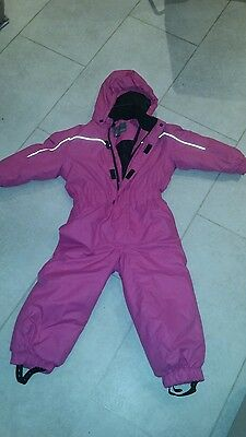 Colour Kids Girls Pink Ski / Snow Suit All-in-one age 4