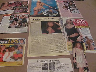 12 Sets Of Mariah Carey   Lot #1     Clippings   Wow   #1127