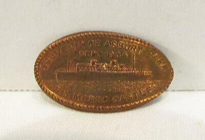 Souvenir Of Asbury Park Nj 1934 S.s. Morro Castle Stretched Penny Elongated Coin