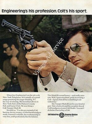 1974 Colt Trooper Mark III. Original Jim Hopkins Print Ad