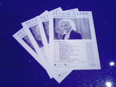 """PETULA CLARK - """"FROM NOW ON TOUR 2016"""" (4 x PROMO FLYERS)"""
