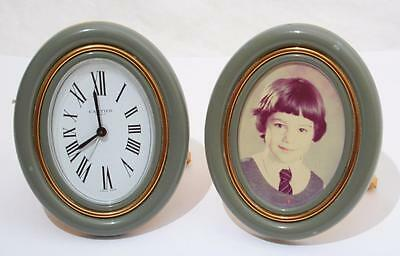 Stunning Vintage Must de Cartier Travel Alarm Clock And Photo Frame