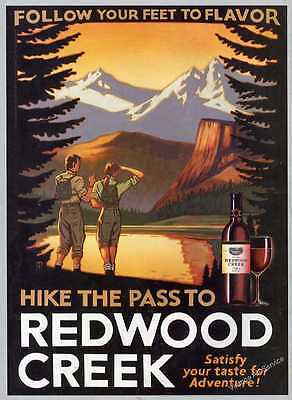 2004 Hike The Pass to Redwood Creek Vintage Wine Ad