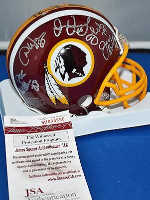 Washington Redskins Hogs Autographed Mini Helmet Signed By 12 Hogs Grimm Jsa