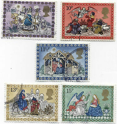 GB Stamps SG1104-1108, 1979 Christmas. Multicoloured Complete Used set