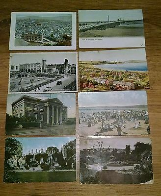 8 x SWANSEA   job lot  vintage postcards one real photo RP Wales