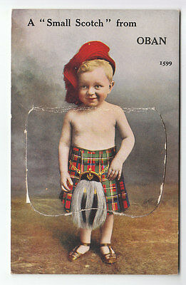 A Small Scotch From Oban 1931 Valentines Mailing Novelty Old Postcard Unposted