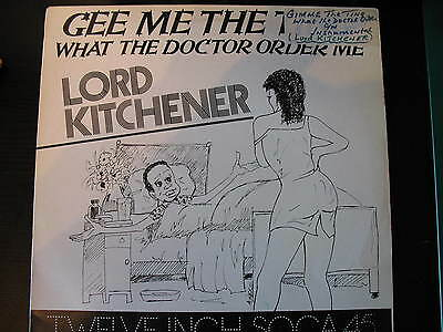 """Lord Kitchener-Gee Me The Ting. 12"""" Reggae Single. Dancehall. Roots. 1982. Vg"""