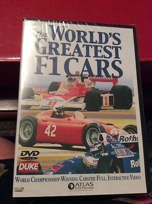 Atlas Editions The World's Greatest F1 Cars Dvd, Brand New In Original Packaging