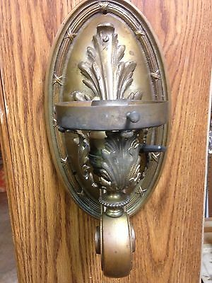 Antique Vintage Large Heavy Cast Brass Art Nouveau Arts And Crafts Light Sconce