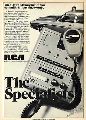 1972 RCA Solid State Mobile Radios Vintage Photo Ad