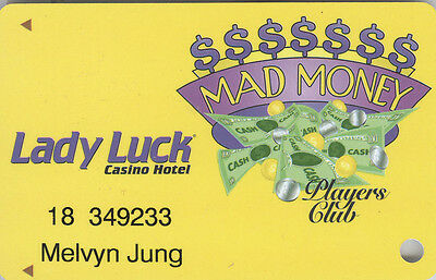Lady Luck - Mad Money - Slot Card