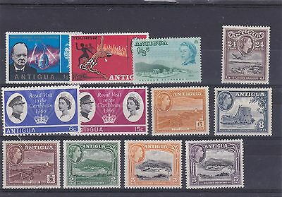 Antigua Qe2 Mint Collection Of Pictorial Stamps