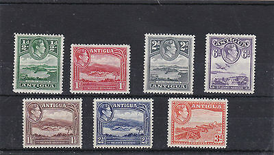 Antigua 1938 Pictotial Part Set Sg.98-104 Nice Lightly Mounted Mint--Mlh