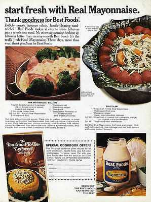 1974 Best Foods Real Mayonnaise Impressive Recipes Print Ad