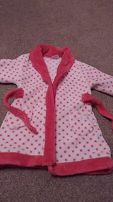 Baby Girls Dressing Gown, Age 9-12 months, By Miniclub BOOTS