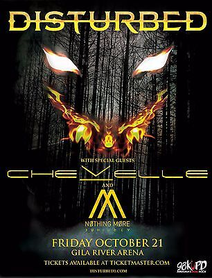 Disturbed / Chevelle / Nothing More 2016 Phoenix Concert Tour Poster